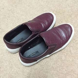 Slip-on Shoes (maroon) By Forever21
