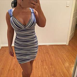 Blue&White Strip Dress