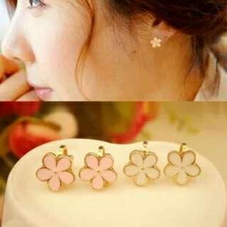 $299免運- 小花金屬軟墊耳夾 夾式耳環