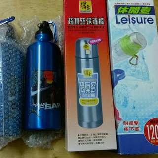 休閒水壺1+保溫瓶1+涼水瓶2