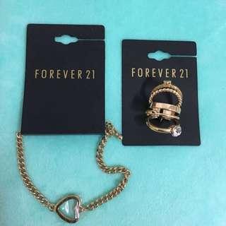 Forever21 手鍊+戒指