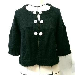 降價 全新 by3 黑色短版毛衣針織外套