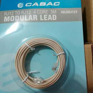 New Telephone Cable RJ12 3m