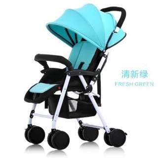 含運「超輕便攜可坐平躺折疊避震四輪季手推傘車bb兒童小嬰兒車