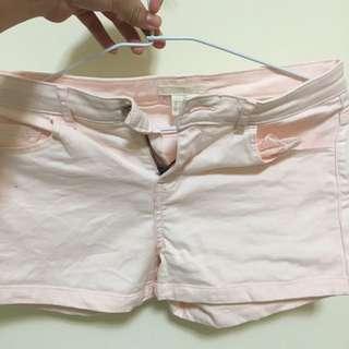 H&M粉紅短褲