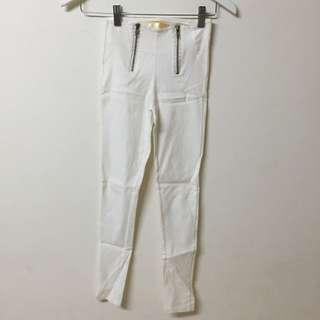 全新彈性白褲