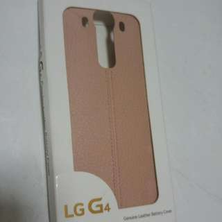(RARE) LG G4 BATTERY PINK LEATHER PHONE COVER / BACKING / CASE
