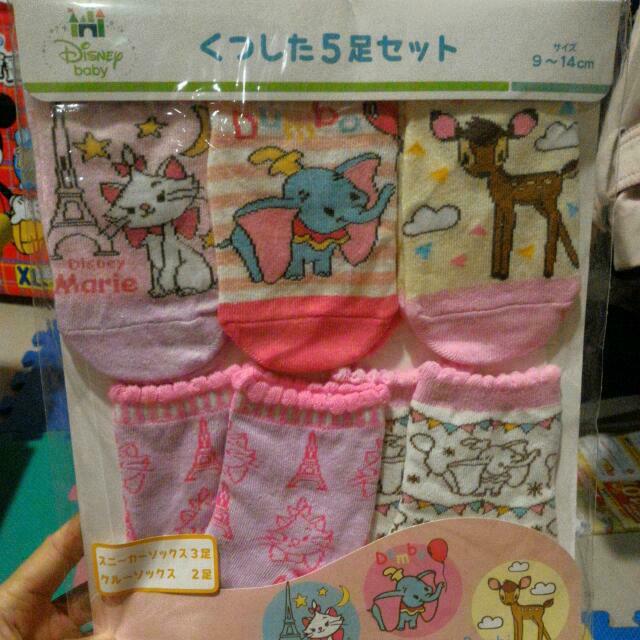 迪士尼系列5入組合襪幼兒襪