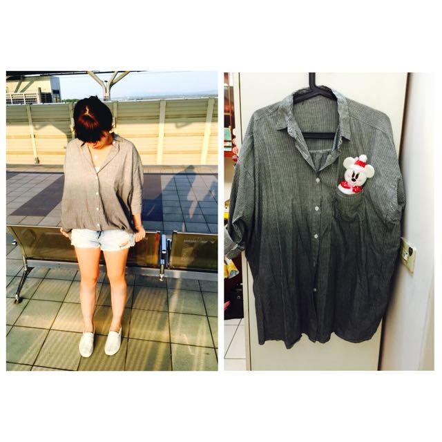 韓版直條漸層襯衫