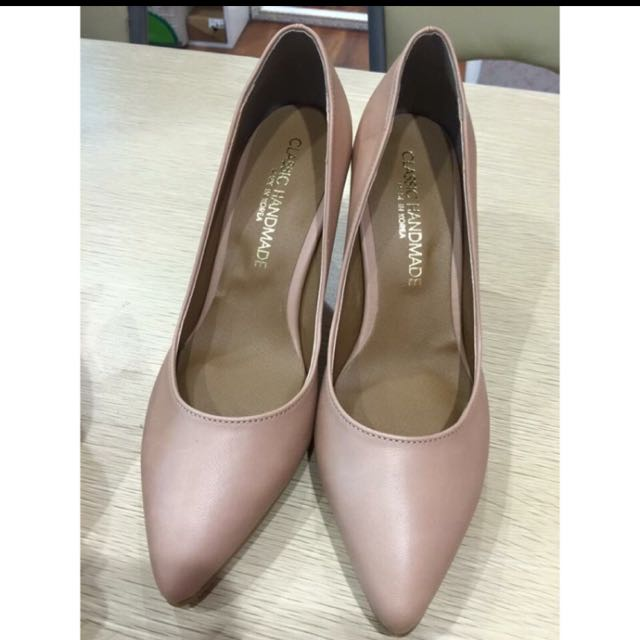 降價🈹️韓國帶回*粉裸色跟鞋