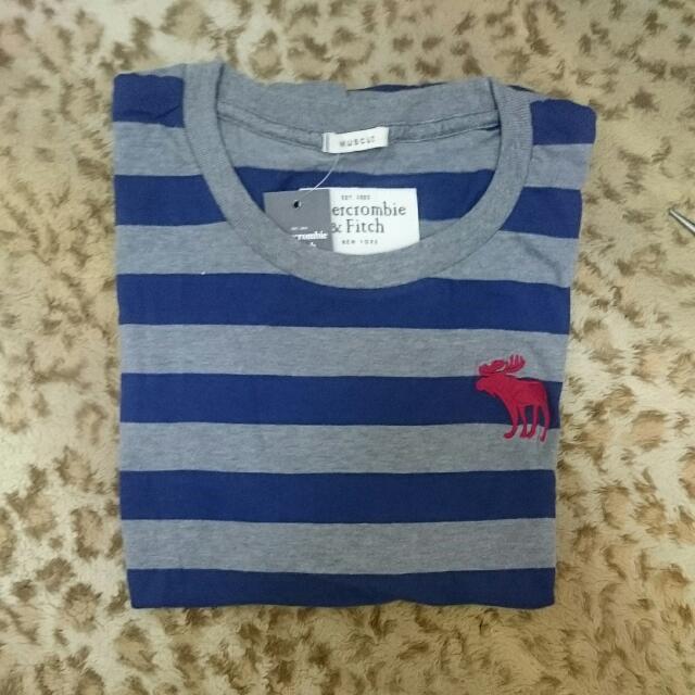 A&F 條紋T-Shirt 全新正品 短T