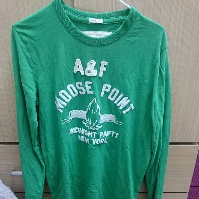 A&F T-shirt 全新正品 長袖棉t
