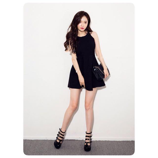 [BN] Halter Neck Black Dress LBD
