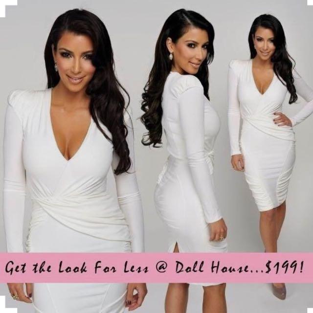 Dollhouse White Evening Dress - XS