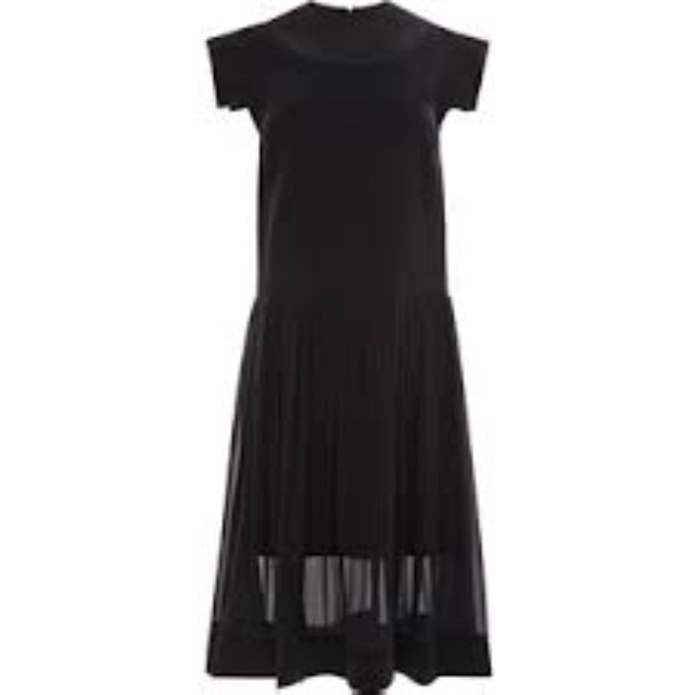 Ellery - 'CHURCHILL' SILK GEORGETTE PLEAT DRESS