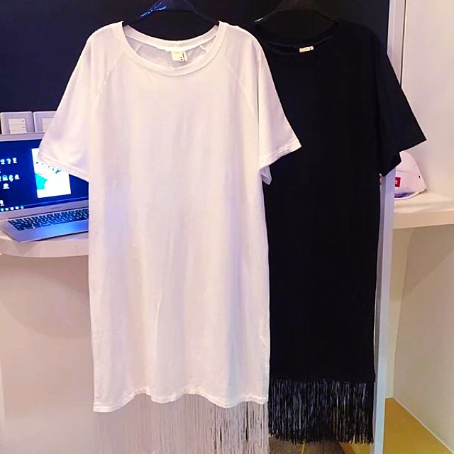 BN Fringe Long Tee (Black)