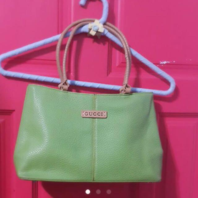轉賣*gucci草綠色手提包