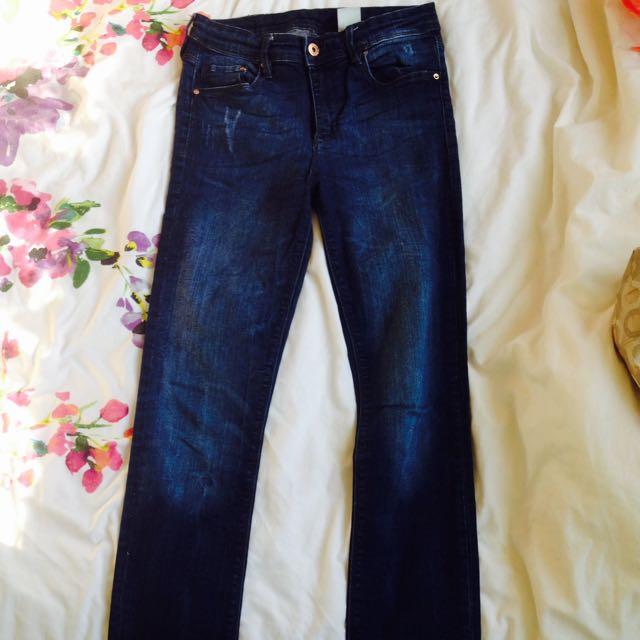 H&m Dark Denim Skinny Jeans