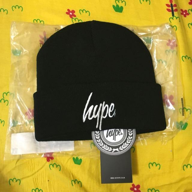 Hype黑色毛帽