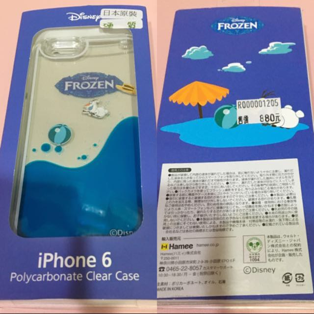 I Phone6/6s 手機殼 Disney冰雪奇緣雪寶
