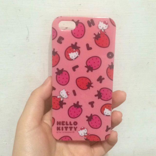 iphone 5 5s Se I5 I5s Hello Kitty 粉紅草莓軟殼