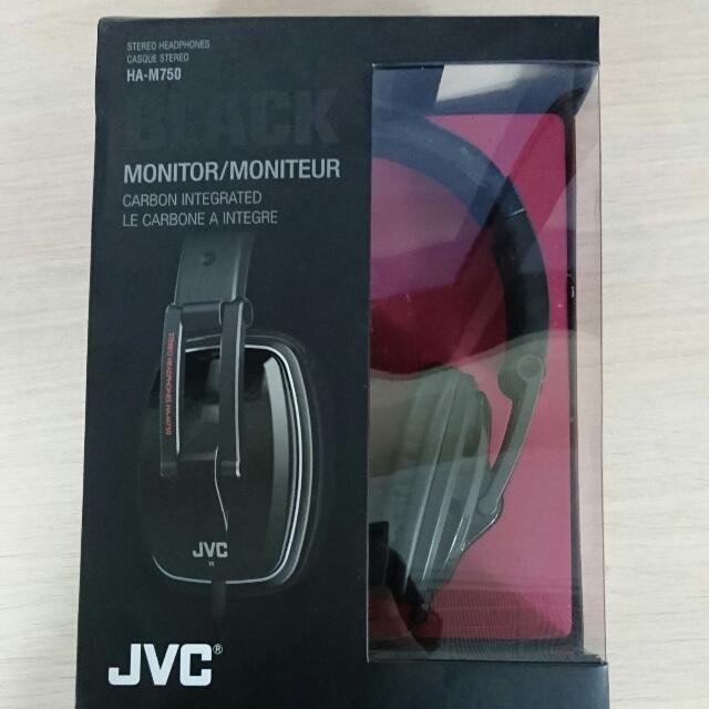 JVC純黑碳纖維輕型耳機 HA-M750
