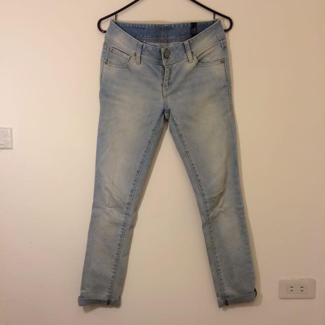 Levi's 牛仔褲/刷白淺色/緊身skinny