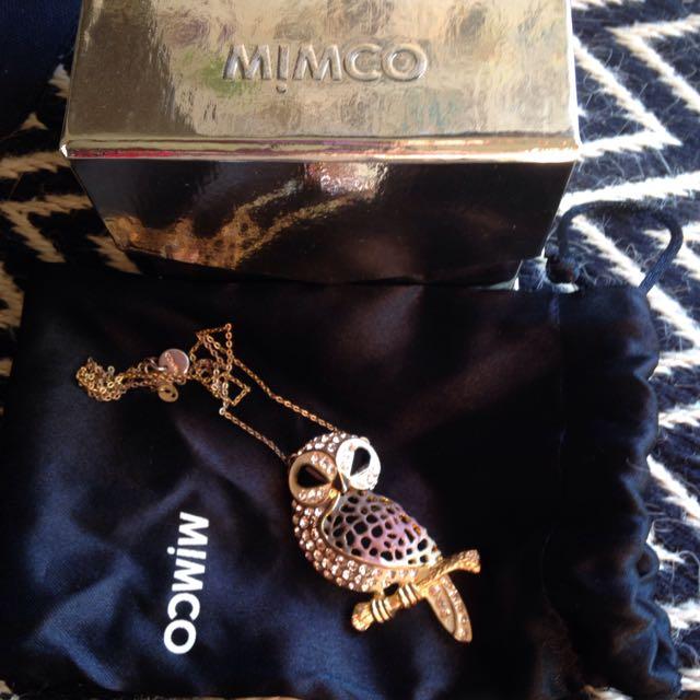 Mimco Owl Pendant