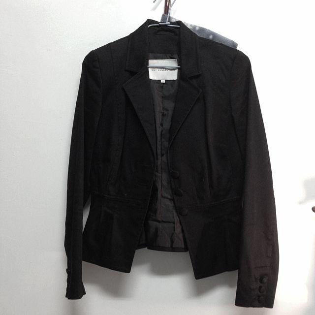 NET 黑色西裝外套 S~M