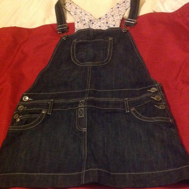 Overall Denims Skirt