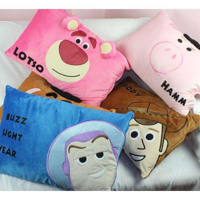 超QQ 玩具總動員 超QQ 玩具總動員 胡迪 巴斯光年 熊抱哥 三眼仔 蛋頭先生 火腿 單人枕套 單人枕頭套 枕套