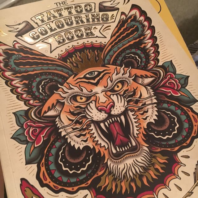 Tattoo Colouring Design Book NEW