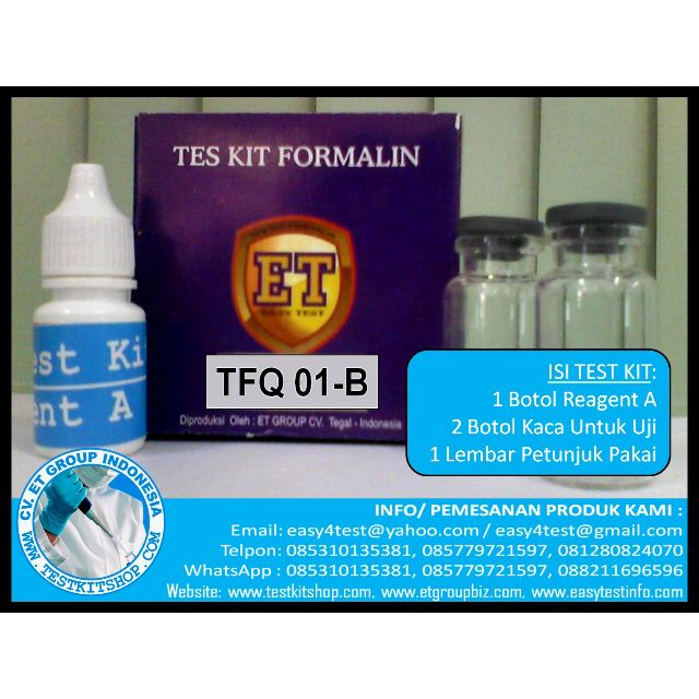 TEST KIT FORMALIN (TFQ 01-B)