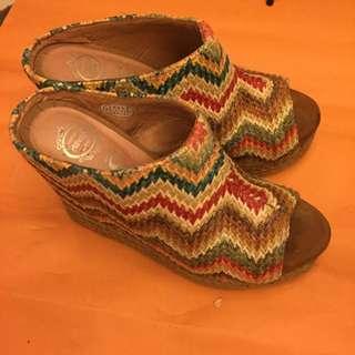 日本買編織感鞋