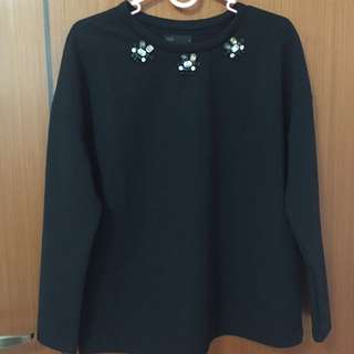 long sleeve polyester top