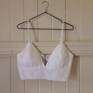 Dissh/Avery White Lace Crop Top