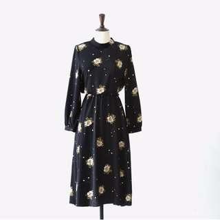 550含郵 長袖 加厚 雪紡長裙 系帶A字裙