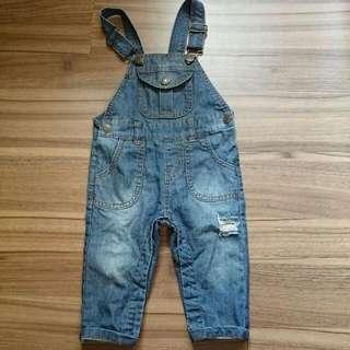 寶寶牛仔吊帶褲