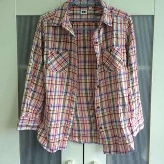 Uniqlo二手棉質襯衫