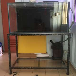 4 Half Ft X 2 Ft Fish Tank For Sale
