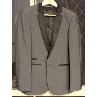 yd Black & Grey Formal Suit Jacket