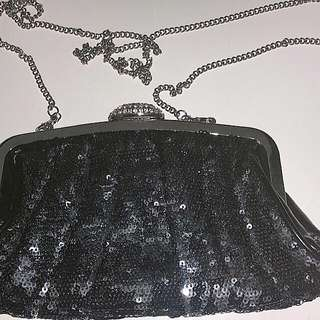 PRICE DROP!!! Evening Glitter/shimmer Clutch with chain strap