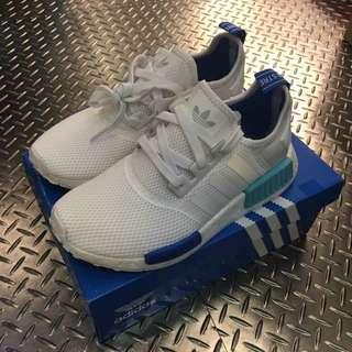 Adidas NMD Runner W 白藍 女 保證正品 台中ㄧ中可面交