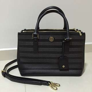 (reserved) Tory Burch Black Double Zip Tote Bag (100% Authentic)