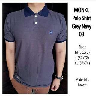 Polo Short Grey Navy 03
