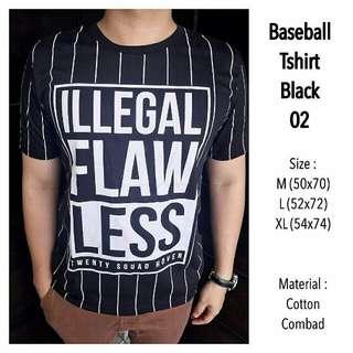 Baseball Tshirt Black