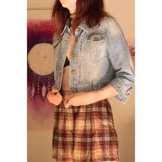 Caroline Morgan Cropped Denim Jacket