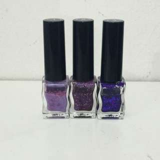 Purple Gradation Nail Polish From Face Shop