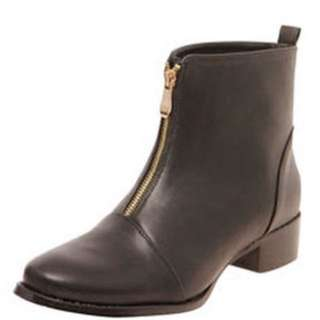 Boohoo Zip Ankle Boots