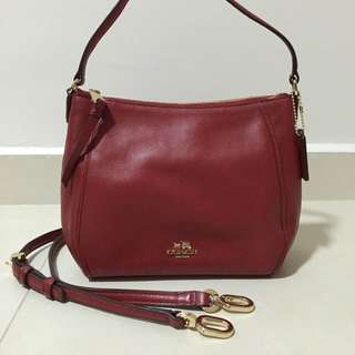 (SOLD) Coach Red Leather Handbag